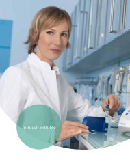 In touch with life - Eppendorf