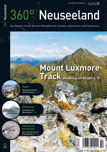 Mount Luxmore - bei 360° Neuseeland