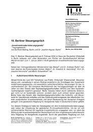 Tagungsbericht 10. Berliner Steuergespräch (PDF-Format)