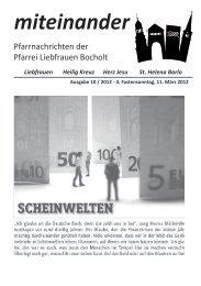 Aktuelle Pfarrnachrichten - Katholische Pfarrgemeinde Liebfrauen