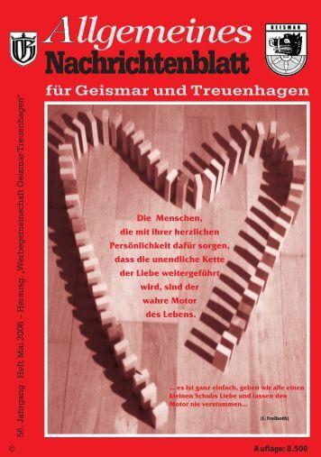 Nachrichtenblatt Mai 2006 - Werbegemeinschaft Geismar ...