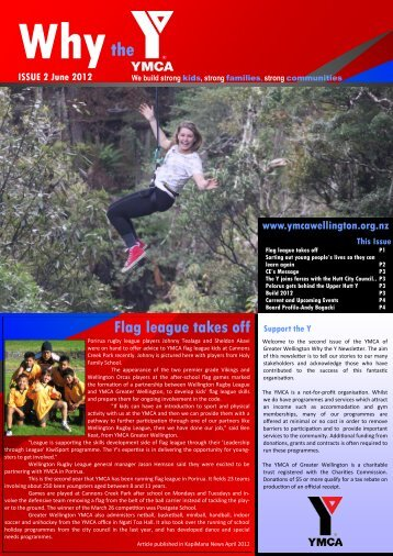 ISSUE 2 – June 2012 - YMCA Greater Wellington