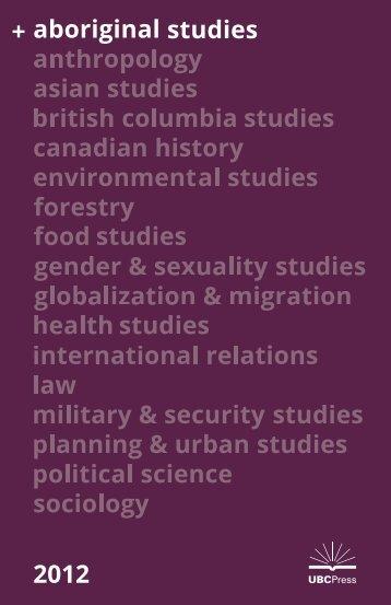 2012 Aboriginal Studies - UBC Press