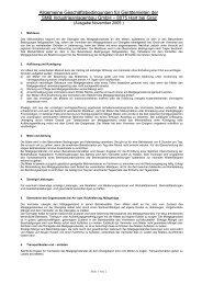 Allgemeine Mietbedingungen - SMB