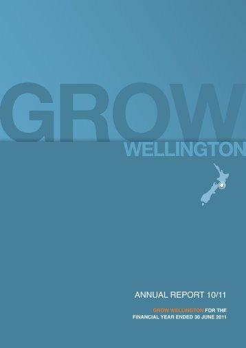 AnnuAl REPORT 10/11 - Grow Wellington