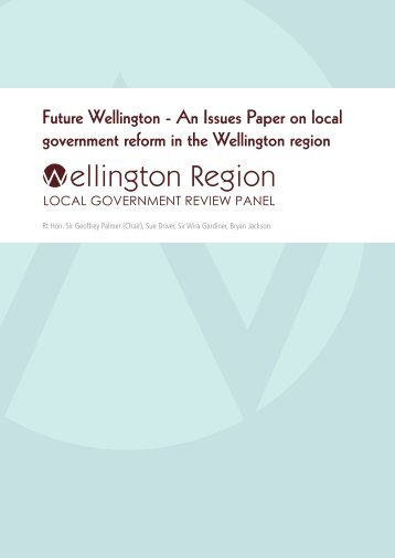 Wellington Region Local Government Review Panel - Issues Paper