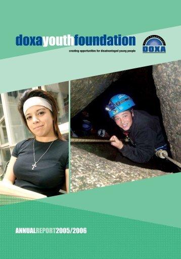 Doxa Annual Report 05-06 - Doxa Youth Foundation