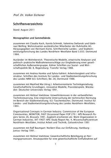 Dr. Volker Eichener - EBZ Business School