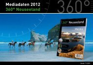 "Mediadaten 2012 360° Neuseeland Broschüre ""Neuseeland"
