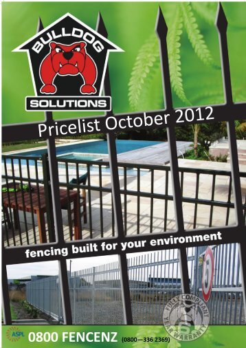 Pricelist October 2012 - ASPL