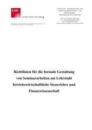 Richtlinien für die formale Gestaltung von Seminararbeiten am ... - IIFS