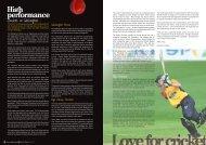 High performance - Wellington Cricket
