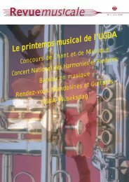 Revue Musicale - Union Grand-Duc Adolphe
