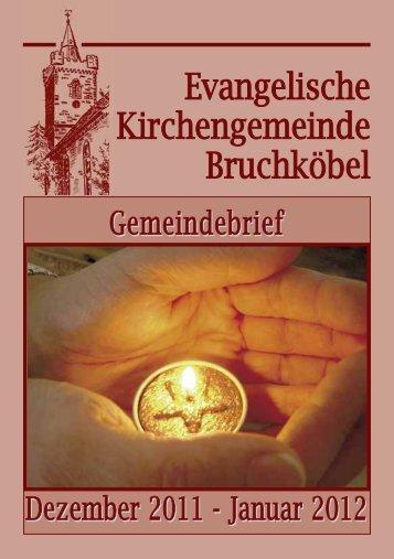 Gemeindebrief Dezember 2011 - Januar 2012 - Evangelische ...