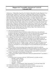 Rapport de l' Assemblée Générale de l'A - Restena