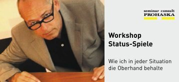 Workshop Status-Spiele - Seminar Consult