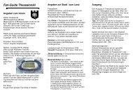 Fan-Guide Thessaloniki - Fanarbeit Schweiz