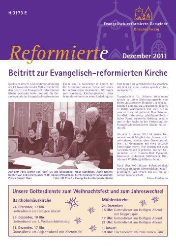 Gemeindeblatt Dezember 2011. - Evangelisch-reformierte ...