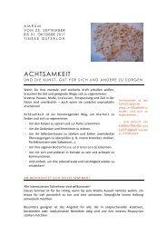 ACHTSAMKEIT - Tineke Osterloh