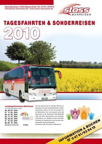 TAGESFAHRTEN & SONDERREISEN - Stoss Busreisen