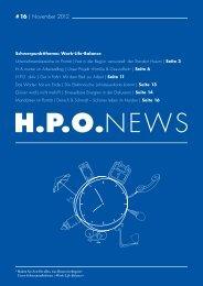 # 16 | November 2012 - HPO Wirtschaftspartner
