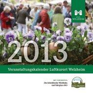Veranstaltungskalender 2013(pdf) - Stadt Welzheim