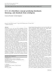 LCA of a biorefinery concept producing bioethanol, bioenergy - avniR