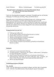 Biographiearbeit in Karlsminde an der Ostsee ... - Katrin Wellmann