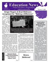 Bravo, Bellevue! Ginger Rogers & Brad Wellmann recognized for ...