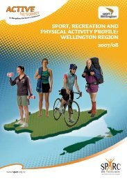Sport, Recreation and Physical Activity Profile: Wellington Region ...