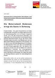 Die Motorradwelt Bodensee bringt die Szene in Schwung