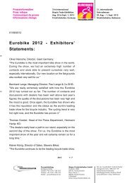 Eurobike 2012 - Exhibitors' Statements: