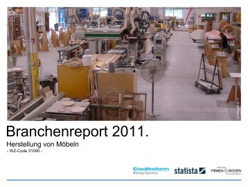 Anzahl der Unternehmen Branche Herstellung von Möbeln ...