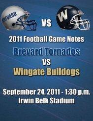 September 24, at Wingate - Athletics