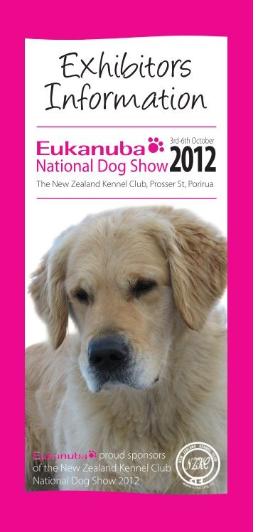 Exhibitors Information - Eukanuba 2012 NZKC National Dog Show ...