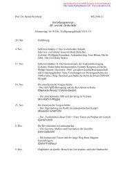 Prof. Dr. Bernd Weisbrod WS 2010/11 Vertiefungsseminar ... - GWDG
