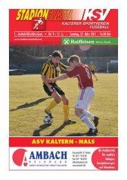 9.Stadionblatt'l gegen Nals - KSV Fussball Kaltern