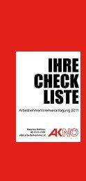 Checkliste für die Arbeitnehmerveranlagung des Jahres 2011 (pdf
