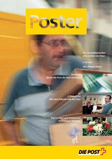 Juli 2003 - Die Schweizerische Post