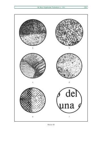 M. Riat, Graphische Techniken (v. 3.0) 229 a b c d e f Muster III