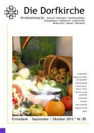 samstag, 20. oktober 2012 9.00 uhr - Evangelische ...