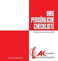 Checkliste für Arbeitnehmerveranlagung - AK - Salzburg