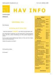 Sonderheft 11/2009 - HAV