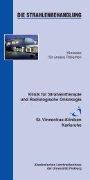 DIE STRAHLENBEHANDLUNG - St. Vincentius-Kliniken gAG