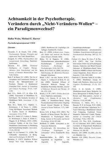 Literaturverzeichnis Weiss & Harrer (.pdf) - Psychotherapeutenjournal