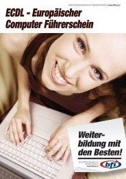 ECDL - Europäischer Computer Führerschein - BFI NÖ
