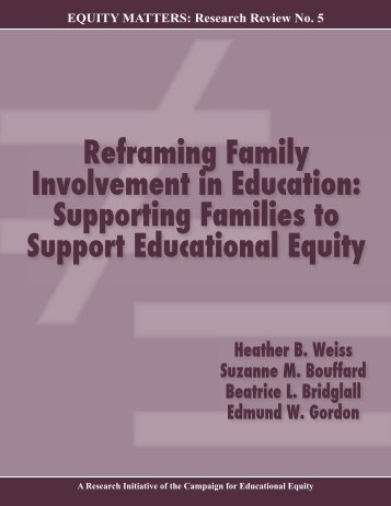 Reframing Family Involvement in Education - Campaign for ...