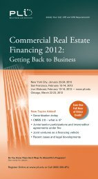 Commercial Real Estate Financing 2012: - Quarles & Brady LLP