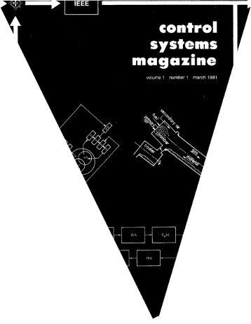 IEEE march 1981 (ISSN 0272-1 708) control systems magazine