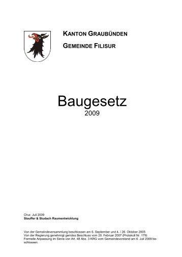 Baugesetz (502 kB) - Filisur